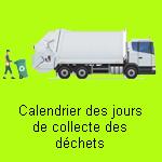 Calendrier collecte des déchets